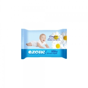 Салфетки влажные Детские 20 шт с экстрактом ромашки
