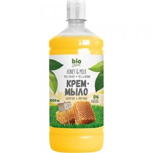 Жидкое мыло Мёд с молоком мыло-крем запасная упаковка, 1000мл