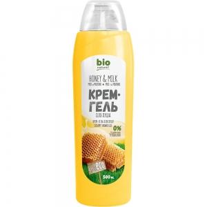 Крем-гель для душа Мед и молоко, 500мл