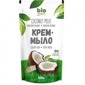 Жидкое крем-мыло Кокосовое молоко запасная упаковка, 500мл