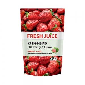 Жидкое мыло сашет Клубника и гуава (Strawberry&Guava), 460мл
