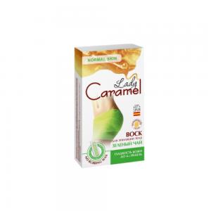 Lady Caramel Воск д.депиляции тела Зеленый чай (16шт+салф.п.деп)