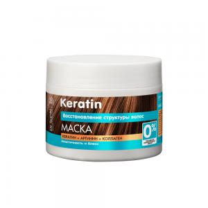 Dr.Sante Keratin Восстановление Маска д/тусклых и ломких волос, 300мл
