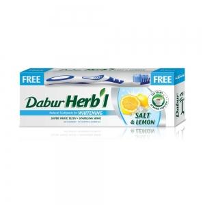Зубная паста Herb'I Mint & Lemon Gel в комплекте с зубной щеткой, 150 г