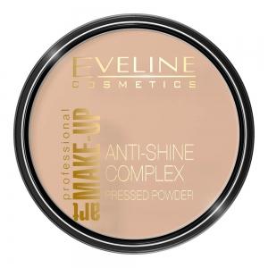 Пудра для лица Anti-Shine Coplex тон 34 светло бежевый, матирующая минеральная с шелком, 14г