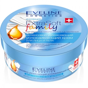 Extra Soft Family Крем для лица и тела Интенсивно увлажняющий Успокаивающий, 175мл