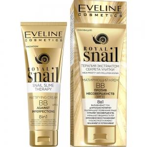Royal Snail BB Крем для лица Матирующий против несовершенств 8в1, 50мл