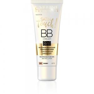 Тональный крем Satin Touch BB Cream 8в1 тон 001 ivory многофункциональный с увлажняющей сывороткой, 30м