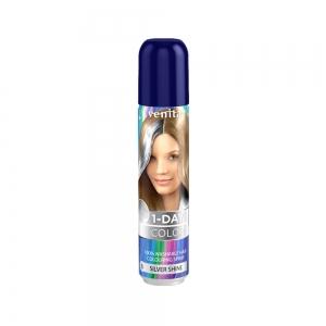 Оттеночный спрей для волос 1-DAY COLOR 06 Серебряный блеск, 50мл