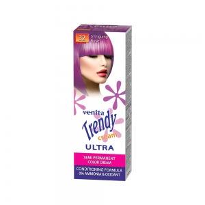 Красящий тонер-крем для волос TRENDY CREAM 32 Интригующий розовый, 75мл+бальзам для волос 2х15мл