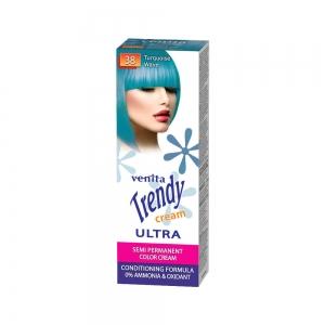 Красящий тонер-крем для волос TRENDY CREAM 38 Бирюзовая волна, 75мл+бальзам для волос 2х15мл