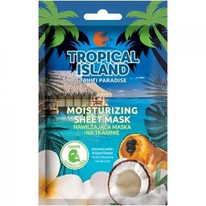 "Маска для лица Tropical Island Tahiti ""Увлажняющая"" на тканевой основе (зеленая)"