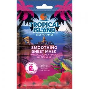 """Маска для лица Tropical Island Bali """"Разглаживающая"""" на тканевой основе (розовая)"""