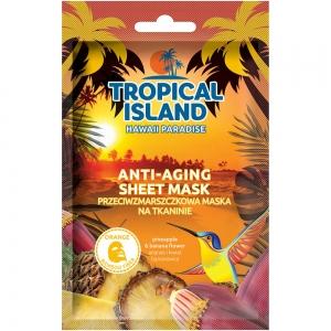 """Маска для лица Tropical Island Hawaii """"Омолаживающая"""" на тканевой основе (оранжевая)"""