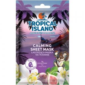 """Маска для лица Tropical Island Mauritius """"Успокаивающая"""" на тканевой основе (фиолетовая)"""