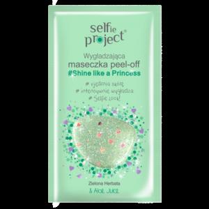 """Маска-пленка с блестками для лица Peel Off """"ПРИНЦЕССА"""" с зеленым чаем и алоэ, 12мл"""