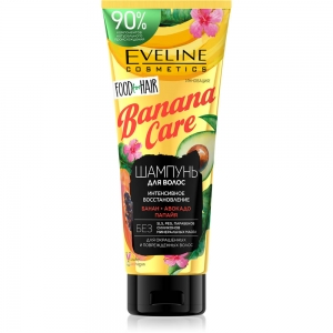 Food for Hair Шампунь для волос Banana Care защита цвета и восстановление, 250мл