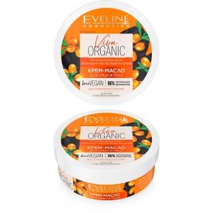 Viva Organic Крем-масло для лица и тела для сухой и чувствительной кожи, 200мл