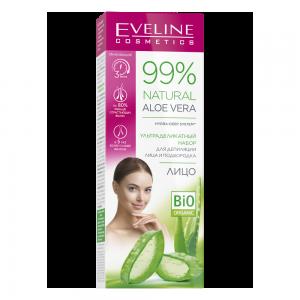 Ультраделикатный набор для депиляции лица и подбородка 99% Natural Aloe Vera: депилятор 20мл + гель после депиляции, 2х5мл