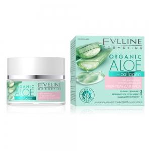 Крем-гель для лица увлажняюще-успокаивающий для нормальной и чувствительной кожи Organic Aloe+Collagen, 50мл