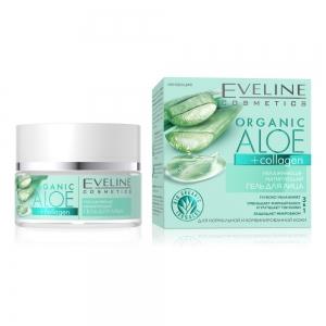 Гель для лица увлажняюще-матирующий для всех типов кожи Organic Aloe+Collagen, 50мл