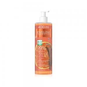 Крем-гель для тела 99% Natural Orange Extract согревающий, питатательно-укрепляющий 3в1, 400мл