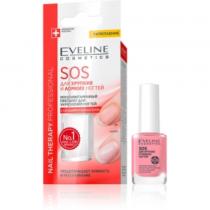 Nail Therapy SOS для хрупких и ломких ногтей с кальцием, 12мл
