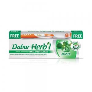 Зубная паста Herb'I Basil в комплекте с зубной щеткой, 150 г