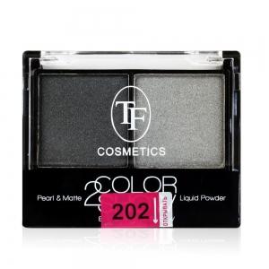 """Тени для век """"Color Show Eyeshadow"""" ТЕ-21-202C тон 202 Стальной серый и мокрый асфальт"""