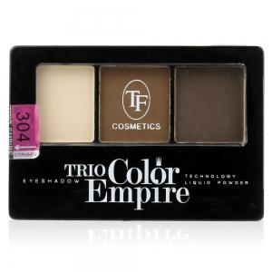 """Тени для век """"Trio Color Empire"""" ТЕ-22-304C тон 304 Шоколад"""
