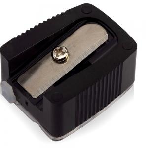 Точилка TS-02 одинарная со стиком и контейнером для косметич карандашей