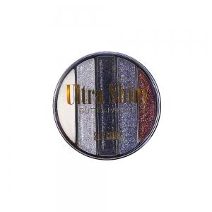 "Тени д/век ""Glitter"" 6748 Ultra Shiny тон 01 круглые 5-цв."