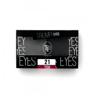 """TF тени д/век """"Triumph Eyes"""" ТЕ-33-21C 2-цв. тон 21 """"серый и графит"""""""