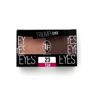 """TF тени д/век """"Triumph Eyes"""" ТЕ-33-23C 2-цв. тон 23 """"золотистый беж и сепия"""""""