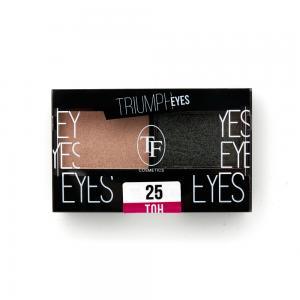 """TF тени д/век """"Triumph Eyes"""" ТЕ-33-25C 2-цв. тон 25 """"песочный и серо-коричневый"""""""
