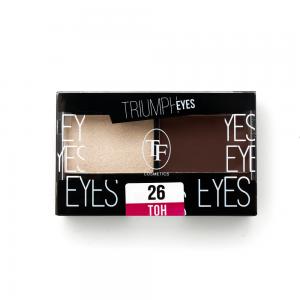 """TF тени д/век """"Triumph Eyes"""" ТЕ-33-26C 2-цв. тон 26 """"экрю и коричневый"""""""
