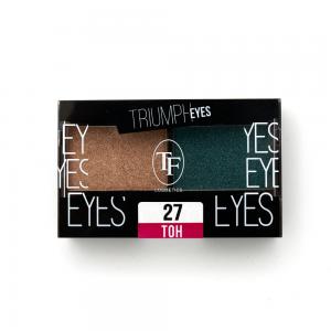 """TF тени д/век """"Triumph Eyes"""" ТЕ-33-27C 2-цв. тон 27 """"золото и изумруд"""""""