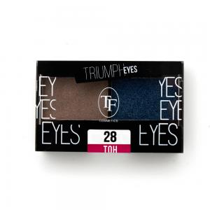 """TF тени д/век """"Triumph Eyes"""" ТЕ-33-28C 2-цв. тон 28 """"пыльный бежевый и индиго"""""""