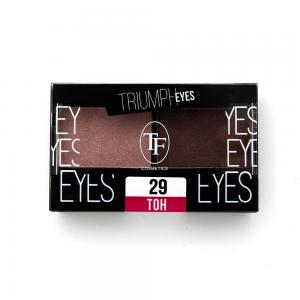 """TF тени д/век """"Triumph Eyes"""" ТЕ-33-29C 2-цв. тон 29 """"пыльный розовый и шоколад"""""""