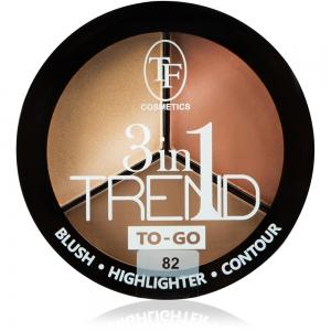 """Румяна для контуринга лица TP-18-82C """"Trend TO-GO"""" тон 82 """"golden&brown/зол-кор"""" палетка, 18г"""