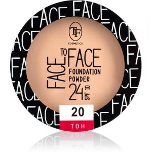 """Пудра компактная для лица """"Face To Face"""" TP-20-20C  тон 20"""