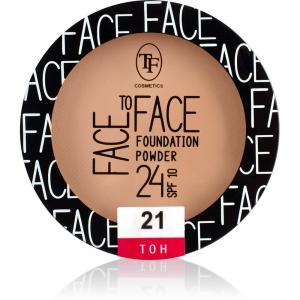 """Пудра компактная для лица """"Face To Face"""" TP-20-21C тон 21"""