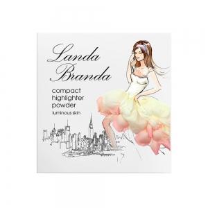 "Landa Branda, Компактная пудра-хайлайтер ""Сияющая кожа"" snow white, тон 51"