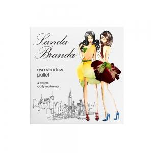 Landa Branda, Палетка теней 4 тона (natural shine) белое солнце/ коричневая яшма/ нюд/ кофе