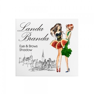 Landa Branda, Тени для глаз и бровей (фиалковый/ бирюзовый/ песчаный/ коричневый холодный)