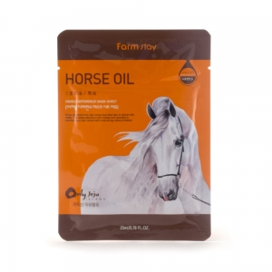 FarmStay Маска д/лица с лошадиным маслом, тканевая, 23мл