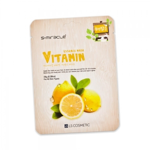 Маска для лица S+ miracle с витаминами, тканевая, 25г