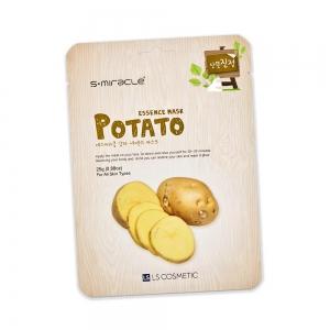 Маска для лица S+ miracle с экстрактом картофеля, тканевая, 25г
