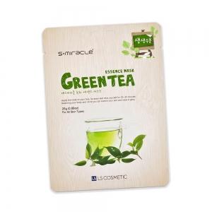 Маска для лица S+ miracle с экстрактом зеленого чая, тканевая, 25г