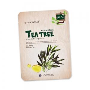 Маска для лица S+ miracle с экстрактом чайного дерева, тканевая, 25г